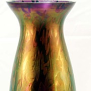 Tall Loetz Vase Deep Purple