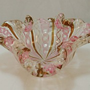 Morano Candy Dish with Ribbon Design