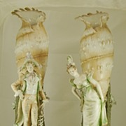 Pair of Amphora Shell Vase's