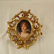 Hand-Painted Dresden Porcelain Plaque