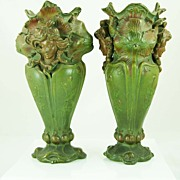 Pair of Vases in style of Alfonso Mucha
