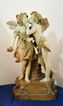 Amphora Rare Terra Cotta c. 1885 Angel Kisses Fairy