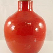 Red Vase by Cole Pottery, Sanford N. C.