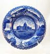 Rowland & Marsellus Staffordshire Flow Blue Plate of St. Paul, Minn.