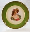 Royal Vienna Hand-Painted Porcelain Plate c. 1870