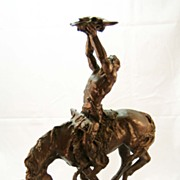 "Buck Mc Cain  Bronze ""Prayer to the Healing Spirit"""