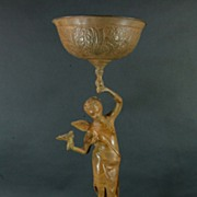 Spelter Bird Bath or Card Holder