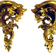 Pair of Italian Gold Leaf Sconces