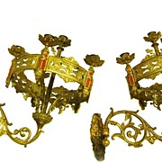 Victorian Bronze Sconces