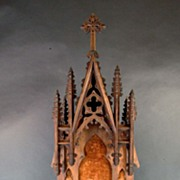 Wooden English Shrine from mid 19th Century