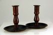 Set of Heavy Copper Candle Holders