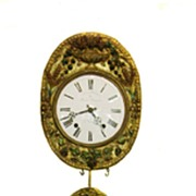 Antique French Morbier Pendulum Wall Clock