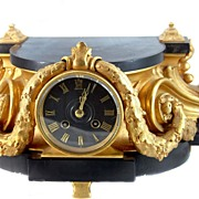 Ornate French Plateau Clock