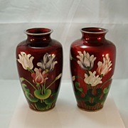 Japanese Cloisonne Vases from Menji Period c. 1868-1912