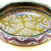 Gouda Pottery Low Dish - Early 20th C.