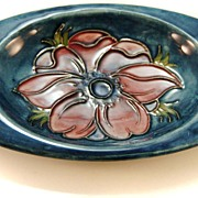 Moorcroft Blue Pottery Ashtray Made in England c. 1960