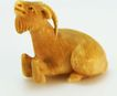 Carved Ivory Netsuke of a Goat c. 19th Century