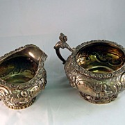 George III Sterling Cream & Sugar  c. 1766