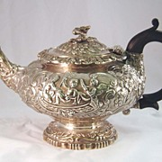 Antique George III Teapot with Figural Motif c. 1766