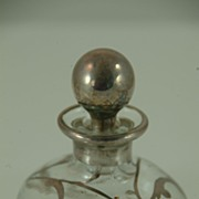 Sterling Silver Overlaid Perfume Bottle c. 1920