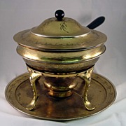 Sterling Silver & Mixed Metal Chafing Dish by Tiffany & Co.