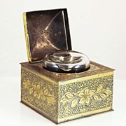 Brass Inkwell with Ink Reservoir
