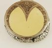 Ivory and Sterling Silver Compact with Mesh Bottom