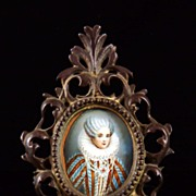 N. Hilliard Miniature Portrait on Ivory