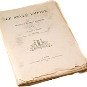 "Book ""Le Style Empire"" from France dated 1930"