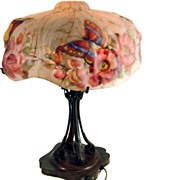 "Signed ""The Pairpoint Corp."" Puffy Lamp with Reverse Shade"