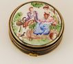 Hand-Painted Porcelain Pillbox c. 1920
