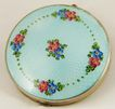 Sterling Silver Compact with Inset Enamel Top