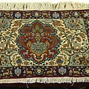 SOLD Persian Tabriz Pictoral Rug
