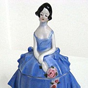 "Nancy Pert ""ERPHILA"" Porcelain Dresser Doll Blue Dress"