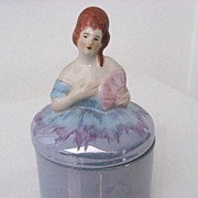 "Large ""Noritake style"" Figural Lady Dresser Doll or Powder Jar"