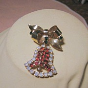 Hobe Christmas Rhinestone Loaded Bell