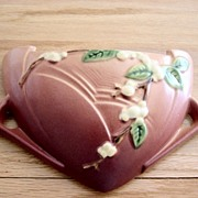 Vintage Roseville Snowberry Pink Wall Pocket