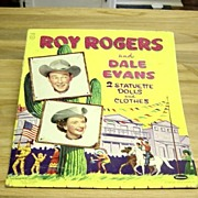 Vintage 1956 Roy Rogers And Dale Evans Paper Dolls