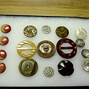 Vintage Collection Of Belt Buckles And Buttons