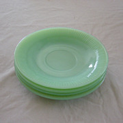Jadeite Fireking Jane Ray Saucers