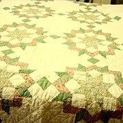 Vintage Star In Star Twin Quilt