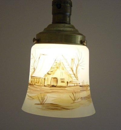 Vintage Italian Hand Painted Hanging Light