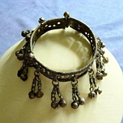 Vintage Large Bangle Cuff Noisy Bracelet