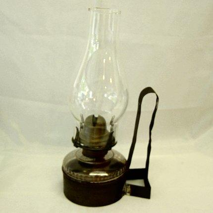 Antique Wall Mount Oil Lamp With Rack