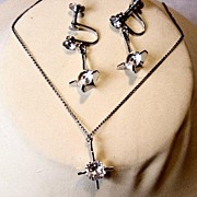 Weiss Necklace/Earrings Silver
