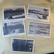 Alaska Highway Postcards c. 1942 Lot of five