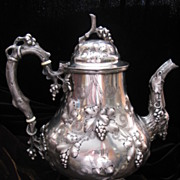 SALE Coin Silver Water: Coffee: Pitchers by Canfield