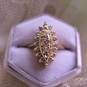 SALE Navette Diamond Ring