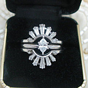 Diamond Marquise Engagement Ring