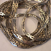 "60"" Long Accessocraft N.Y.C. Versatile Chain Necklace / Silvertone"